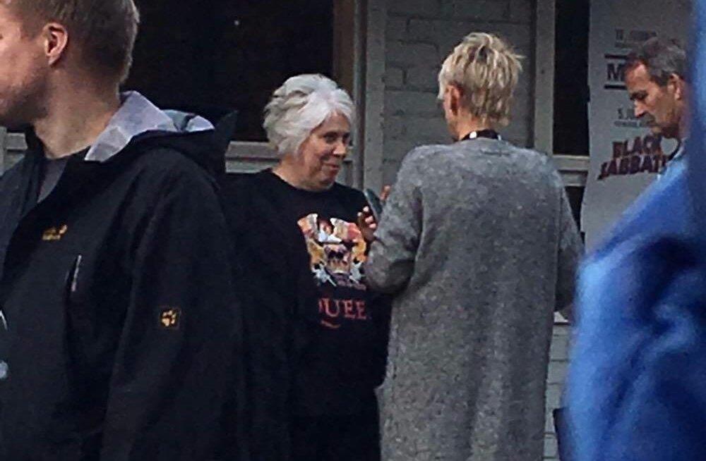 Marina Kaljurand Queeni ja Adam Lamberti kontserdil