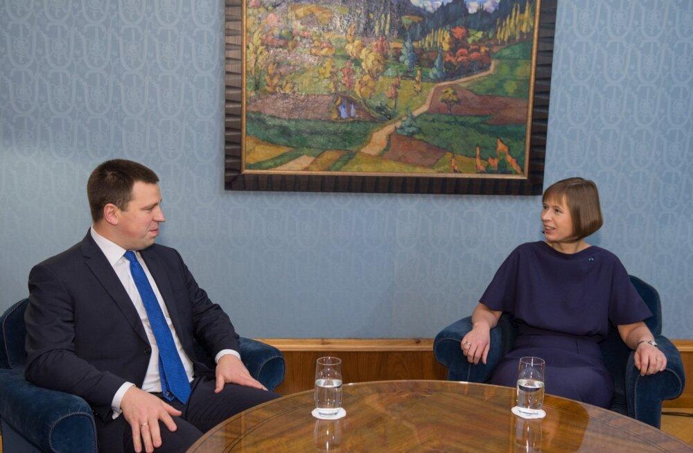 Jüri Ratas Kadriorus presidendiga kohtumas