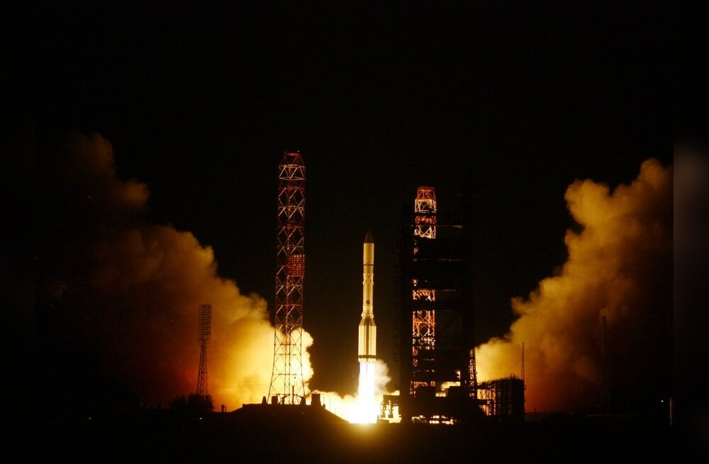 Satelliit Express-AM4 Baikonurist startimas. Foto: Oleg Urusov, RIA Novosti