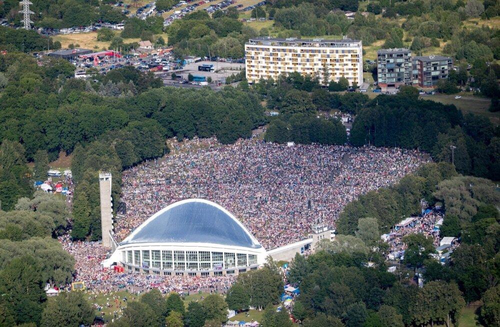 Vaade Tallinna lauluväljakule juubelilaulupeo ajal