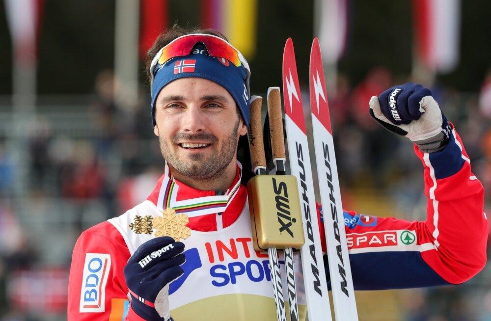 Norra jaoks lõppes MM kuldmedaliga, kui 50 km distantsil noppis võidu Hans Christer Holund.