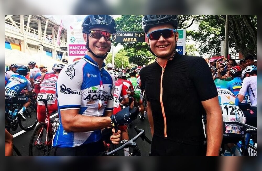 Mihkel Räim ja Martin Laas Colombia velotuuril
