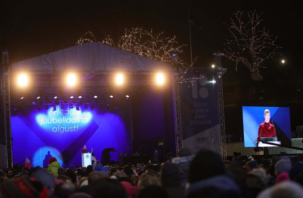 Kersti Kaljulaid: mul on kurb ja ma vabandan, et uusaastaöö ETV teleprogrammis hümni ei mängitud