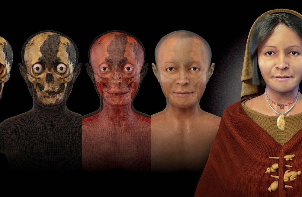 Teadlased taastasid näo: keskealine Peruu naine 4500 aastat tagasi