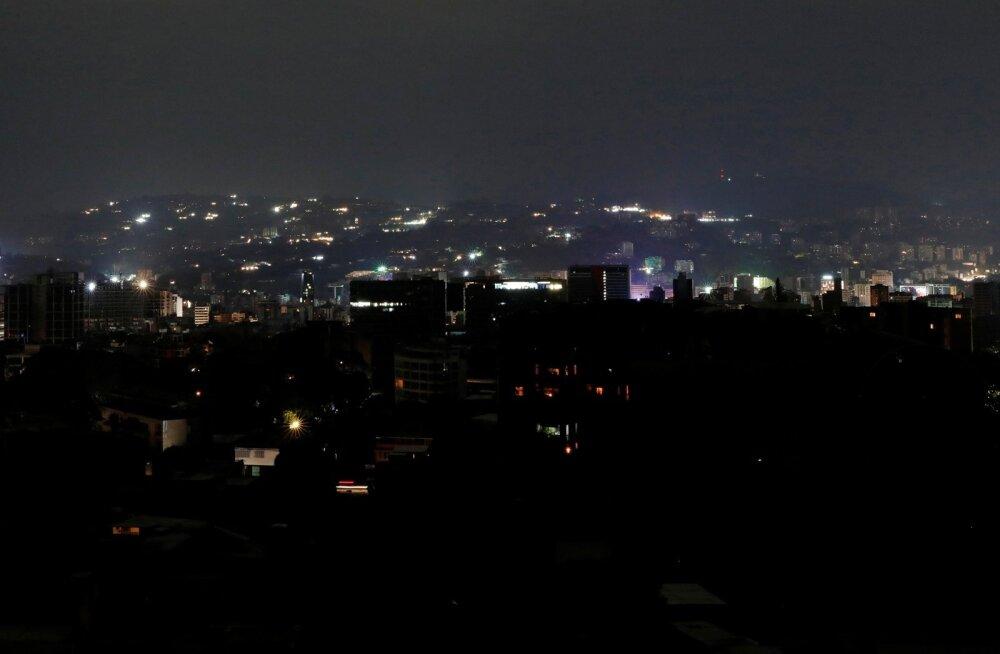 Elektrikatkestus jättis suurema osa Venezuelast pimedusse