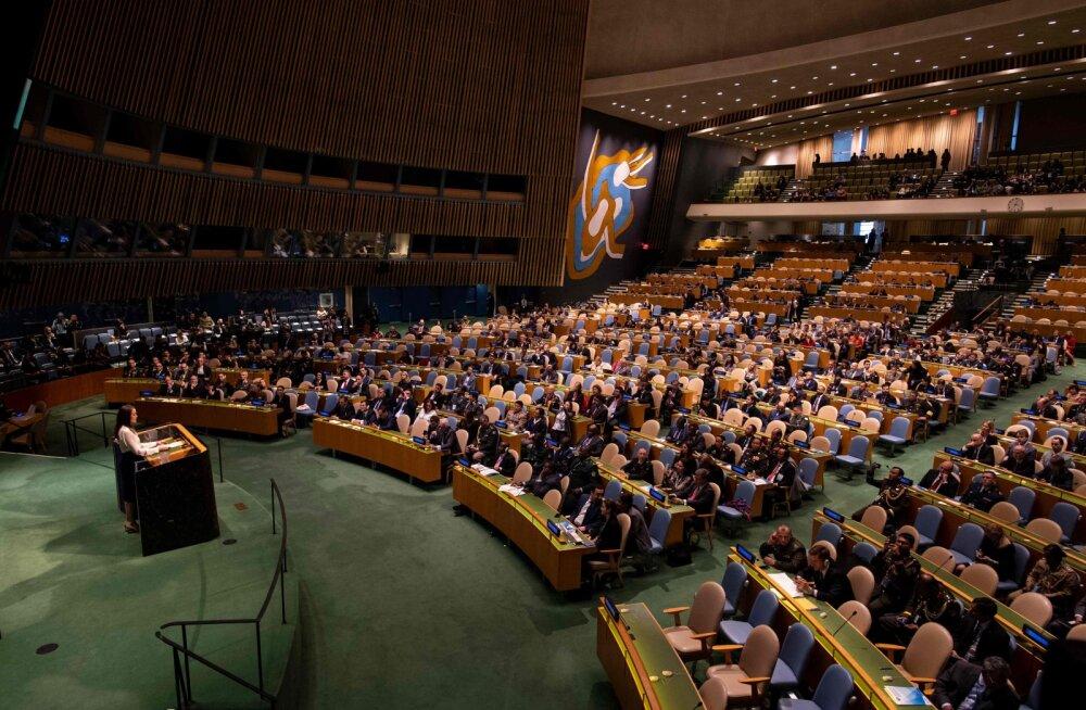 Vene riigiduuma liige palus Eesti president Kaljulaidi sõnade pärast ÜRO-st välja visata