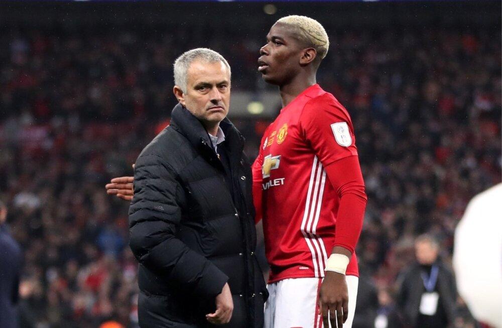 Jose Mourinho ja Paul Pogba läbisaamine oli keeruline.