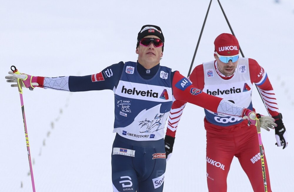 Johannes Hoesflot Klaebo võimutseb Tour de Skil