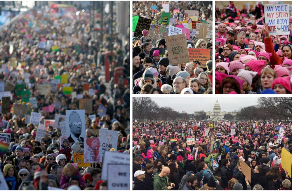 FOTOD JA VIDEOD: Miljonid inimesed üle kogu maailma tulid Trumpi vastu tänavatele