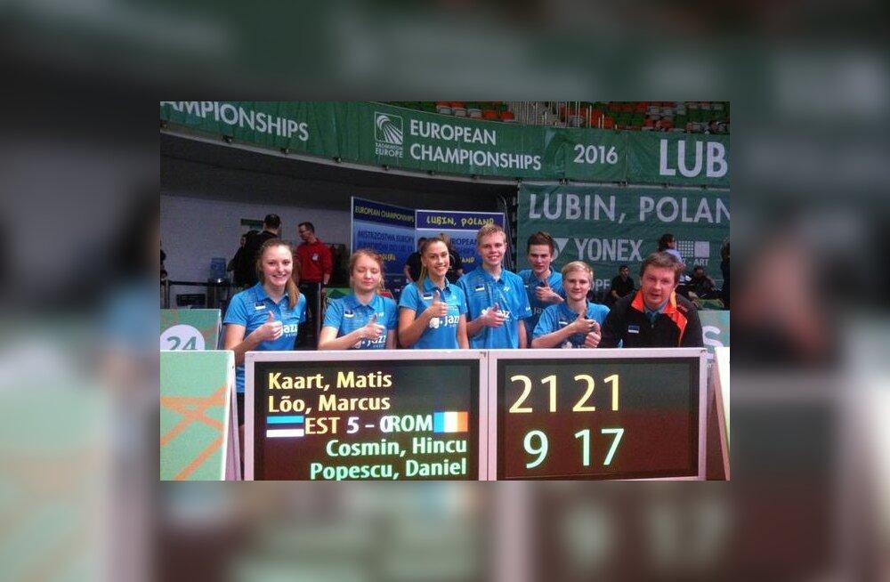 Eesti koondis võidu järel Rumeenia üle