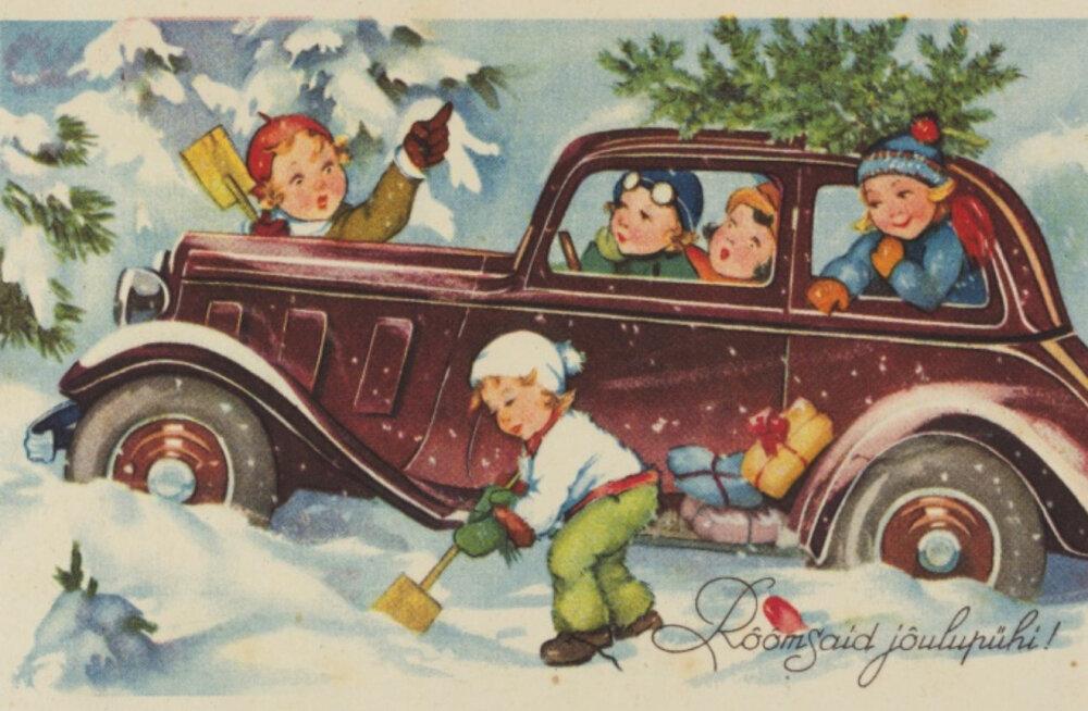 ФОТО | Смотрите, какие рождественские открытки посылали в Эстонии в прошлом веке!