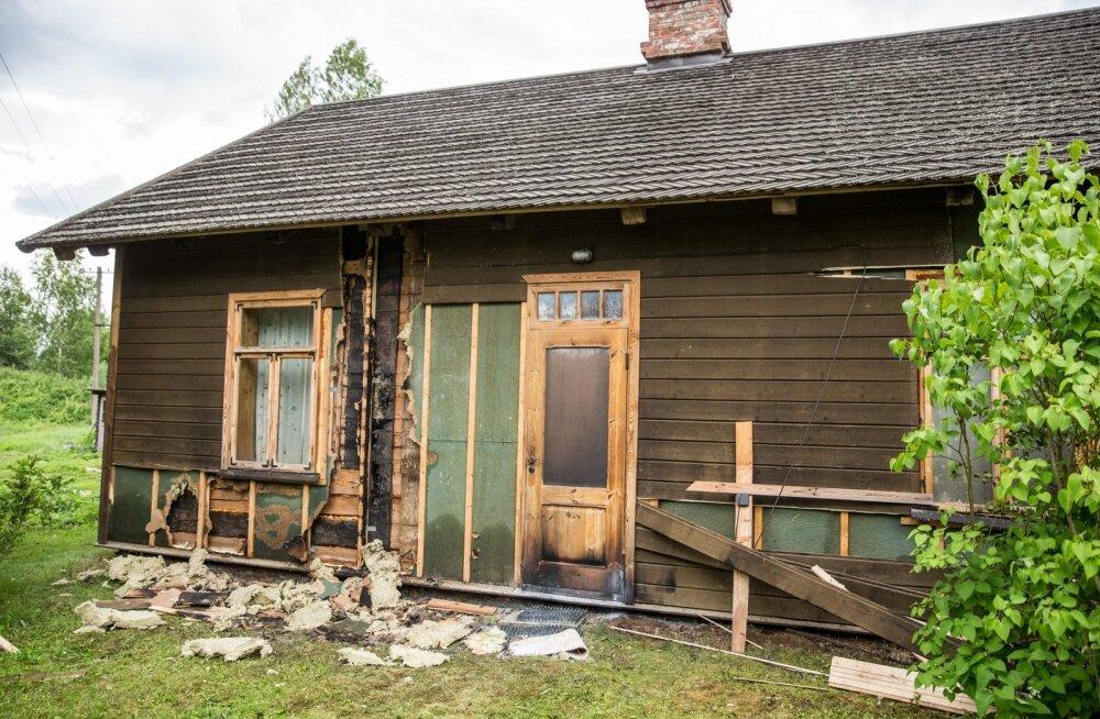 Tuhalaane küla, Hedvig Hansoni talu põleng