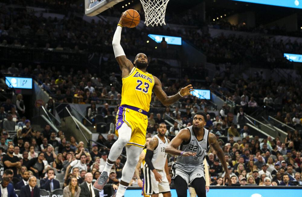 VIDEO | LeBron James tõusis kõigi aegade edetabelis, eelmise hooaja finalist Cavaliers jätkab võiduta