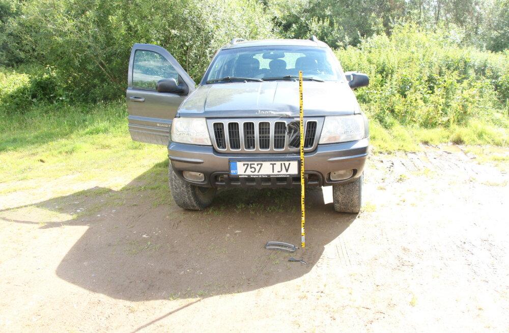 Politsei palub abi Tartumaal autole otsa sõitnud autojuhi leidmisel