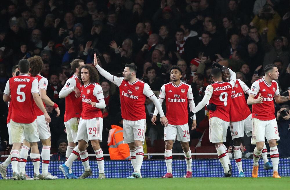 Arsenal edenes raske võiduga esiliiga meeskonna üle neljandasse ringi
