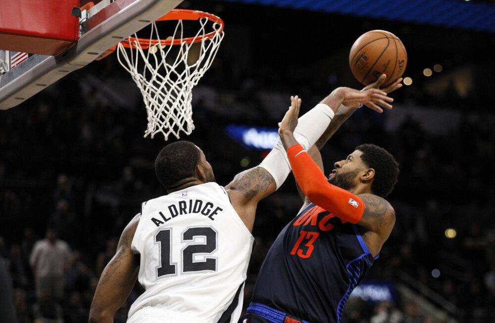 VIDEO | Spurs ja Thunder vajasid kahte lisaaega - Aldridge'ilt 56 punkti, Westbrookilt 24 söötu