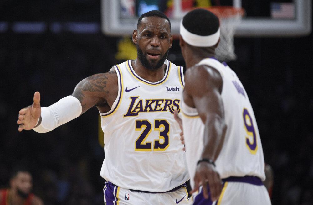 VIDEO | Lakers tõusis tänu lihtsale võidule ja Celticsi ülinapile kaotusele NBA liidriks