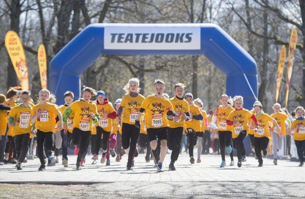 Lapsed eelmise aasta Teatejooksul Tallinnas