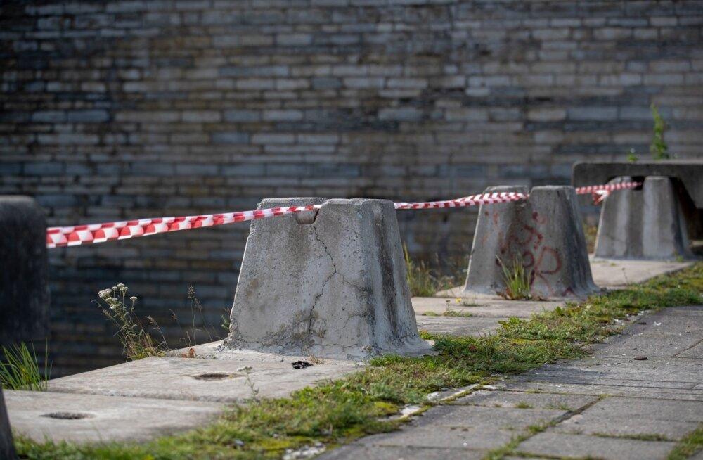 Linnahall, lintidega piiratud ohtlikud kohad