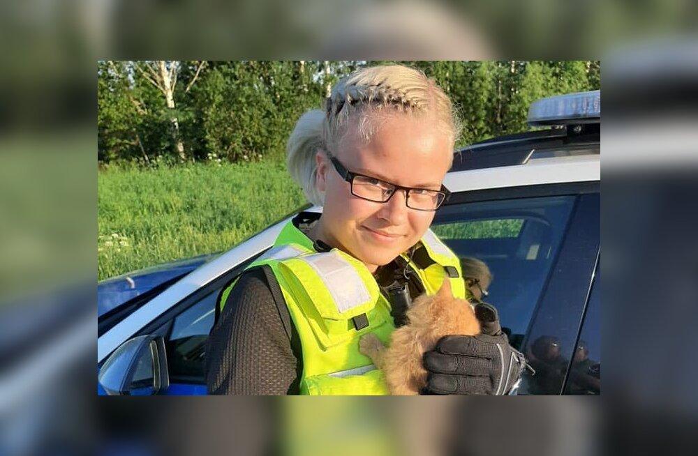 FOTO | Politsei päästis kassipoja teelt