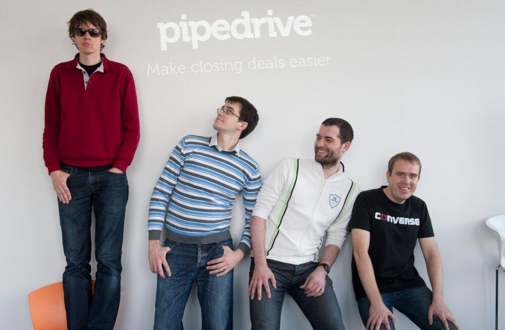 """Pipedrive- Urmas """"Hulio"""" Purde, Martin """"Juhan"""" Tajur, Timo """"Ignassio"""" Rein ja Ragnar """"Juss"""" Sass"""