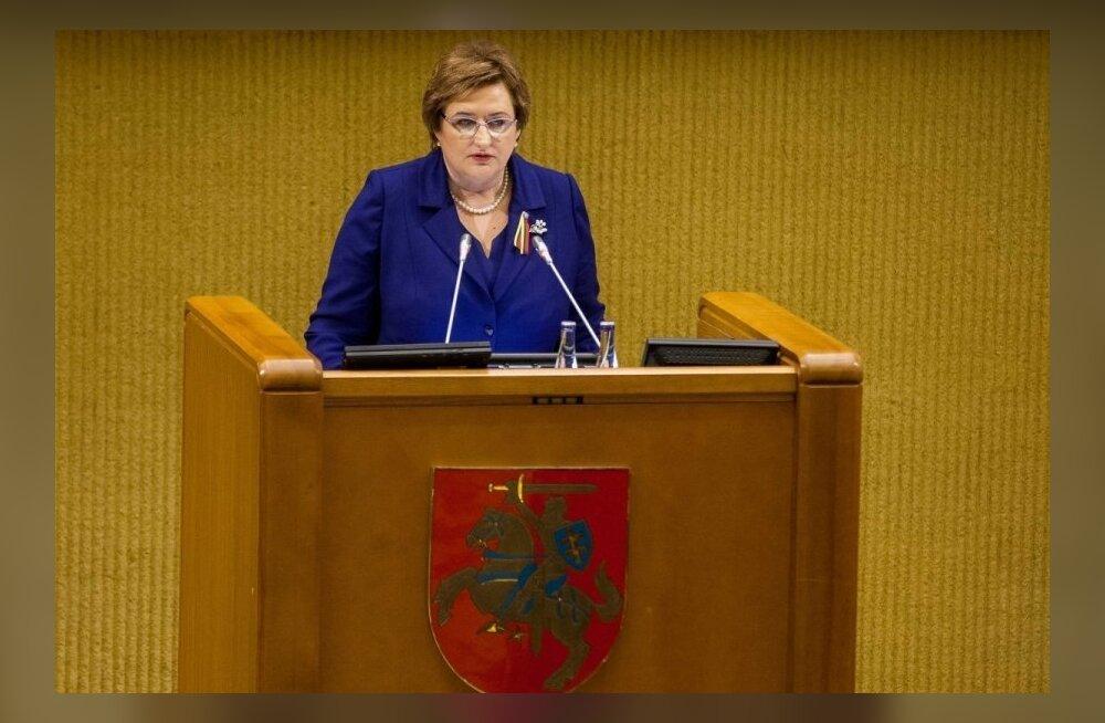 Спикер парламента Литвы: мы не должны искусственно искать врагов внутри страны