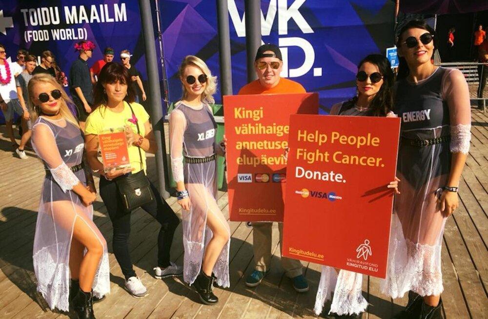 """Weekend Festival Balticu külastajad tegid head annetades vähiravifondile """"Kingitud elu"""" seni kõige suurema summa"""