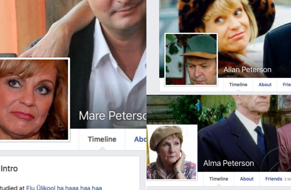 """On nad teles või ilmsi? """"Õnne 13"""" saate karakteritel on väga populaarsed Facebooki kontod"""