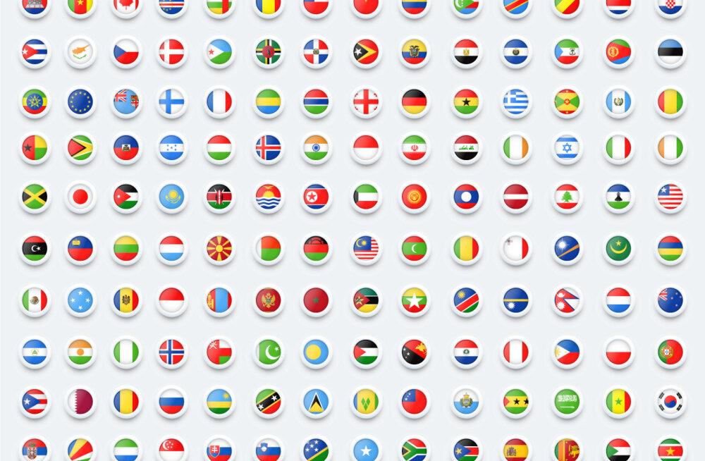 Suur TEST | Kui hästi tunned riigilippe? Kohe saad teada, kui palju arenguruumi sul veel on