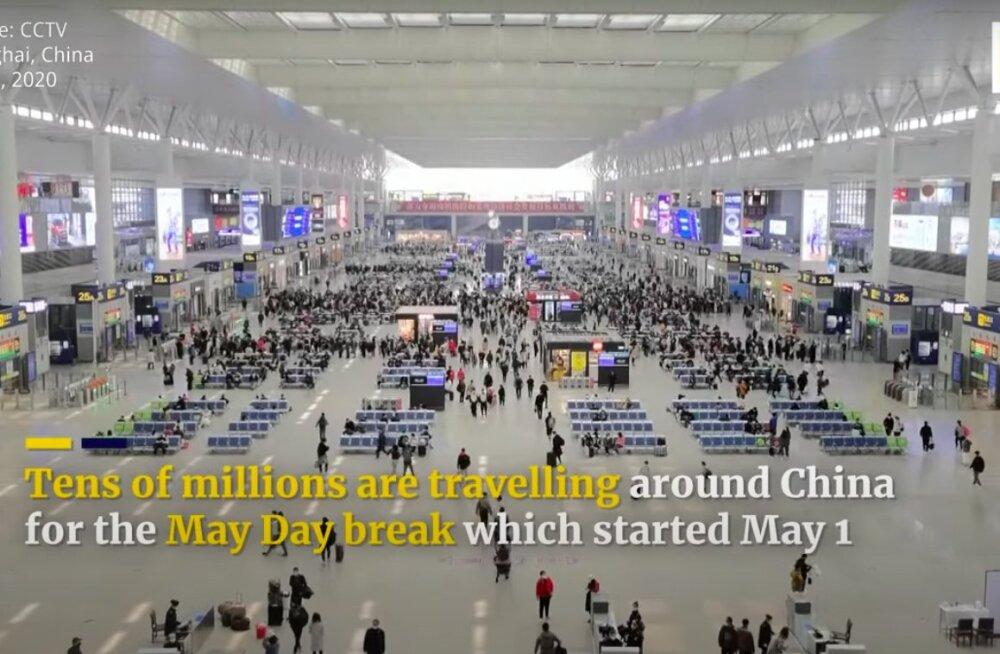 VIDEO | Hiina avas 1. maist taas Pekingi olulisima vaatamisväärsuse Keelatud linna — rahvast on murdu