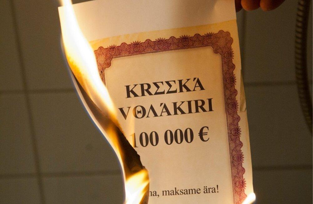 Kreeka võlakirja põlemist kogesid investorid, kes pidid võlakirjade mahakandmise tõttu kaotusi kandma. Kuigi sellega vähendati võlga, on Kreeka riigivõlg praegu 45% suurem kui 2007. aastal.
