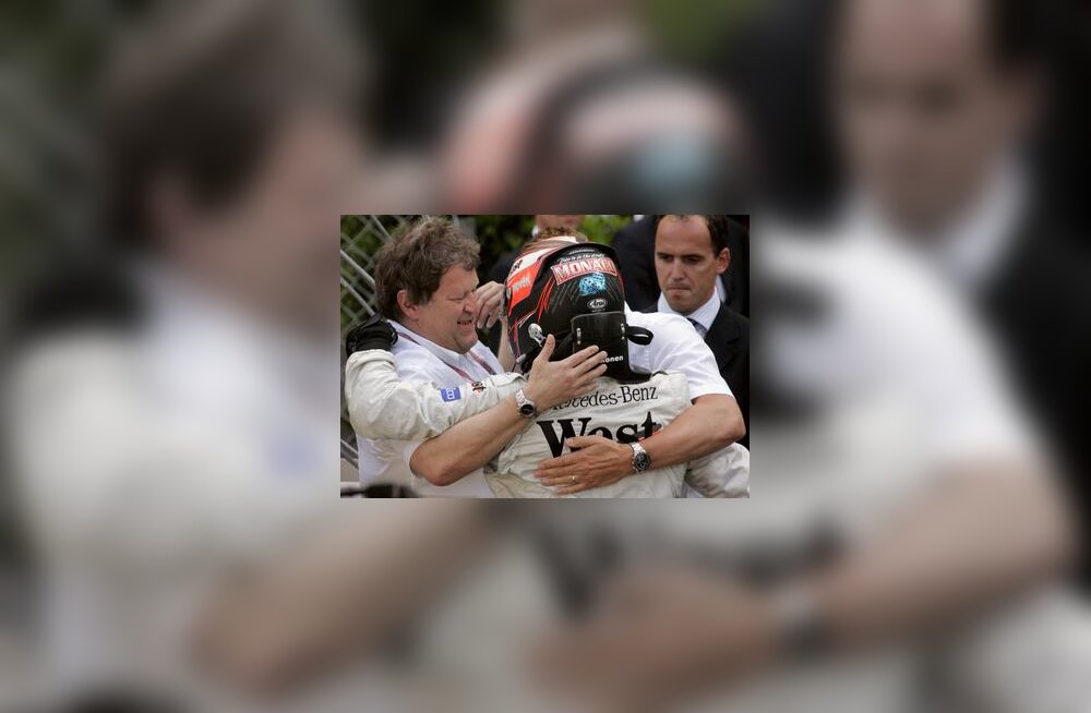 Kimi Räikkönen ja Norbert Haug Monaco GP-l