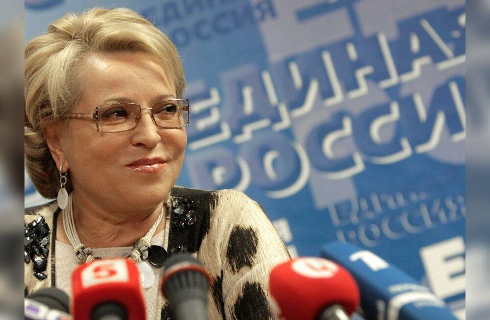 Валентина Матвиенко избрана спикером Совета Федерации