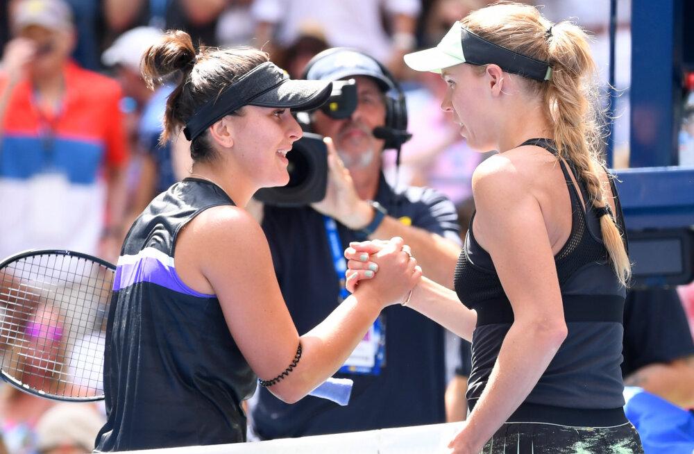 Kanada noor täht alistas kolmandas ringis endise esireketi Wozniacki