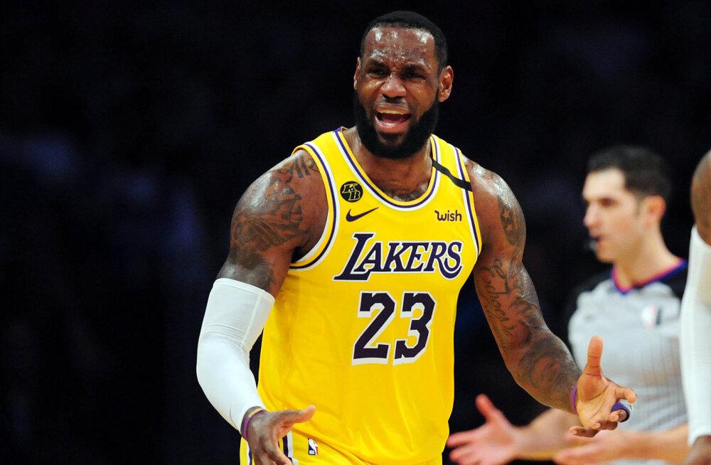Mis saab? Koroonaviirus hirmutab ka NBA-d, LeBron James keeldub suletud uste taga mängimast