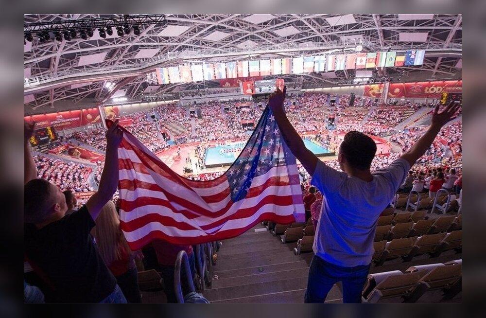 USA võrkpall, USA lipp, USA