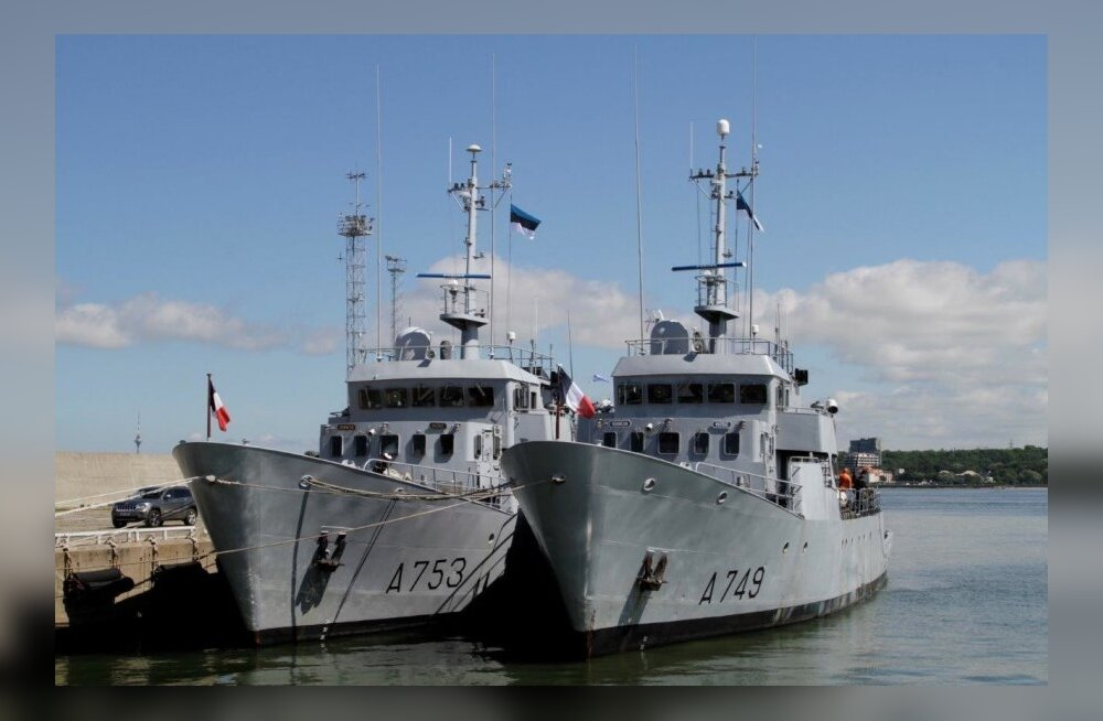 Prantsuse mereväe õppelaevad Tallinnas