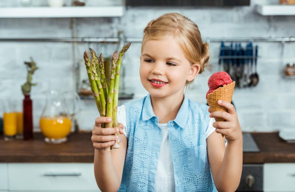 Laste toitumine tähendab tervislikke ja läbimõeldud valikuid