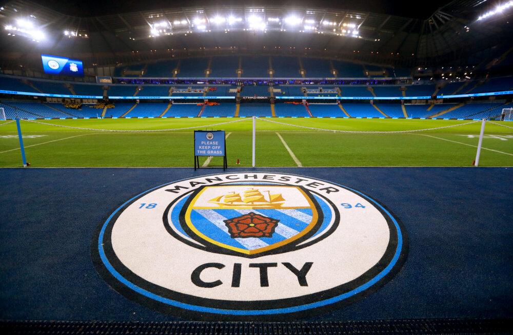 Manchester City logo ja kodustaadion