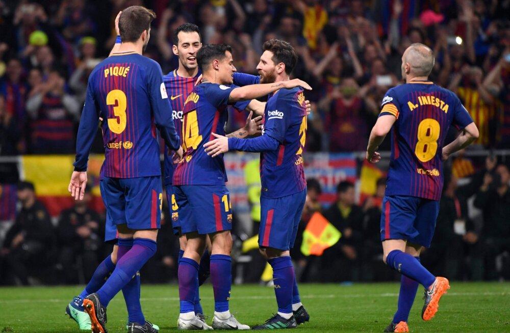 Vaimustav Barcelona purustas Hispaania karikafinaalis Sevilla