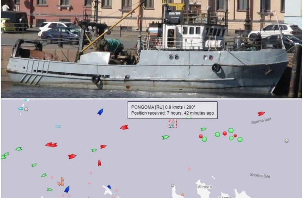 У побережья Эстонии затонул российский траулер