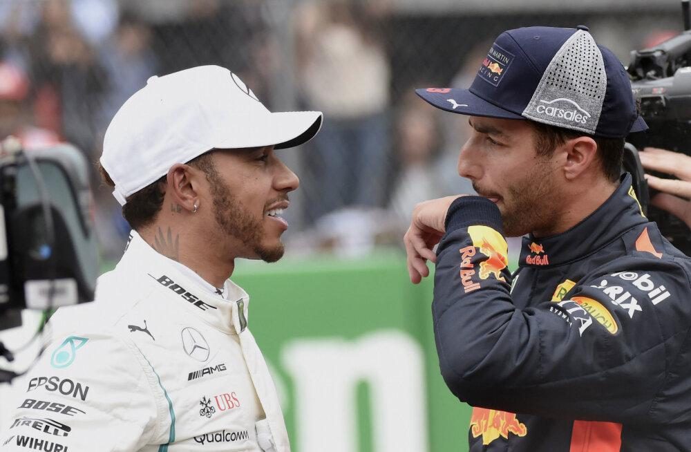 Lewis Hamilton ja Daniel Ricciardo