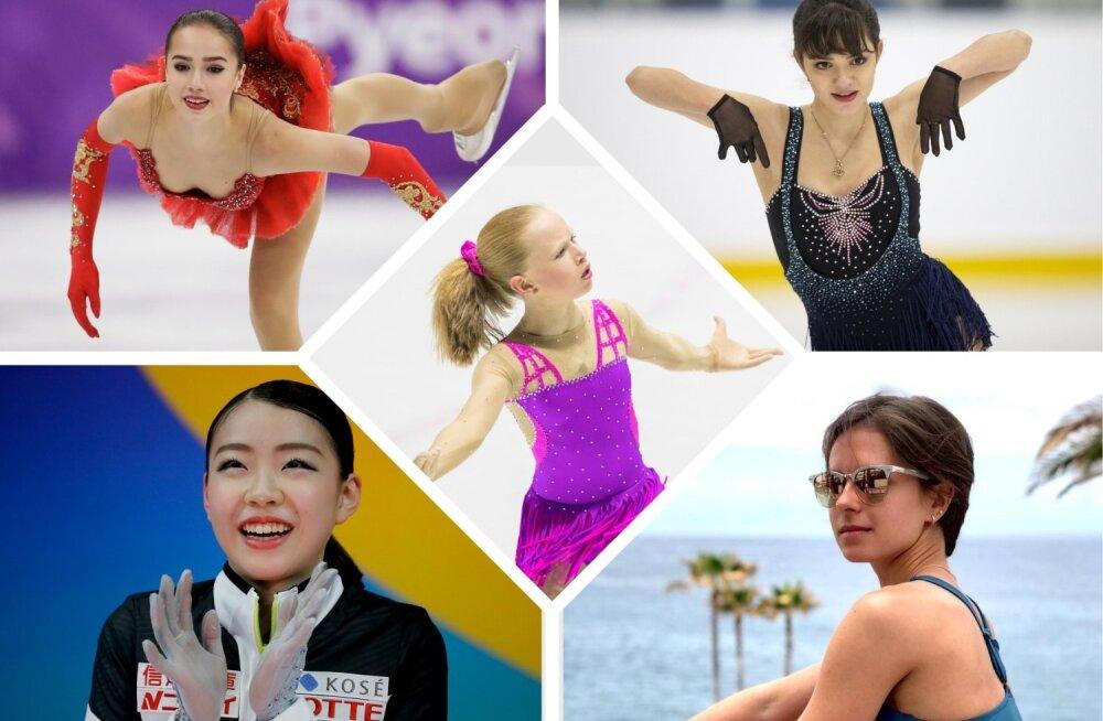 Alina Zagitova, Evgenia Medvedeva, Rika Kihira, Eva-Lotta Kiibus ja Natalja Zabijako
