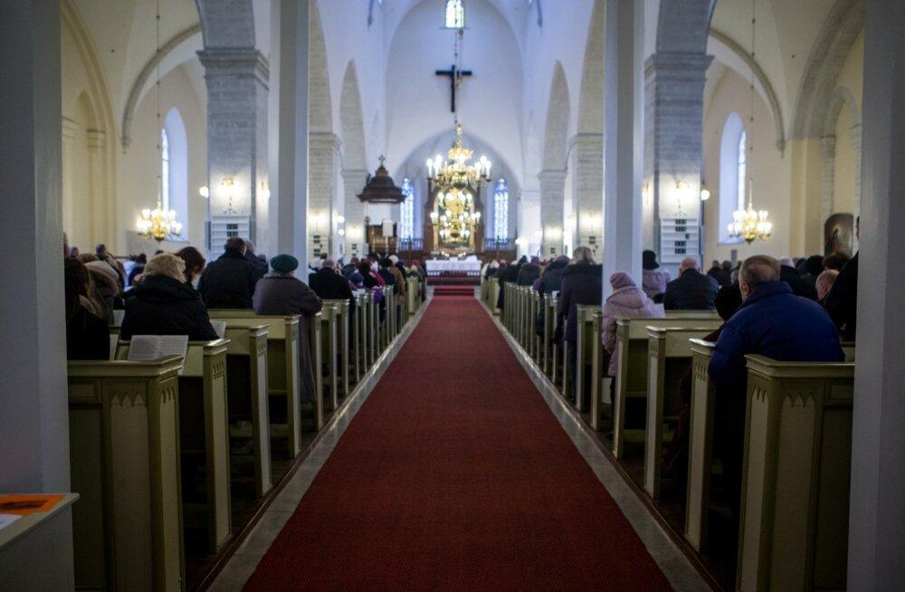 Ülestõusmispüha jumalateenistus Jaani kirikus.