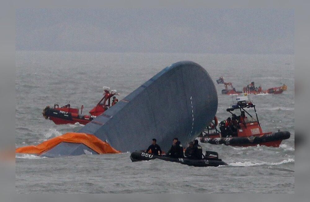 Lõuna-Koreas uppunud parvlaev
