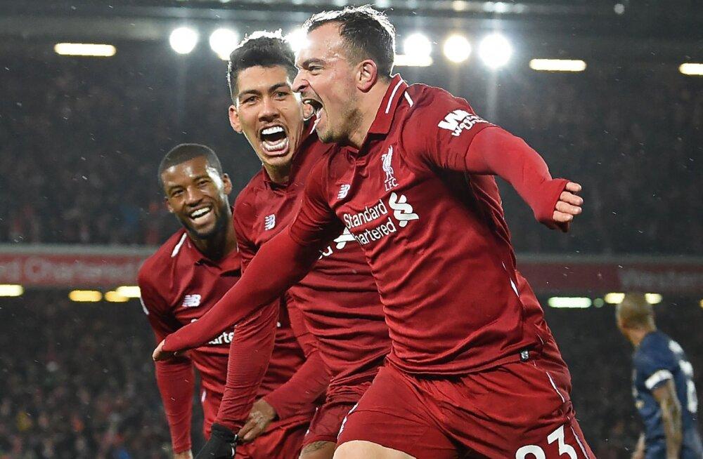 VIDEO   Liverpool sai magusa võidu Manchester Unitedi üle ja tõusis tabeli liidriks