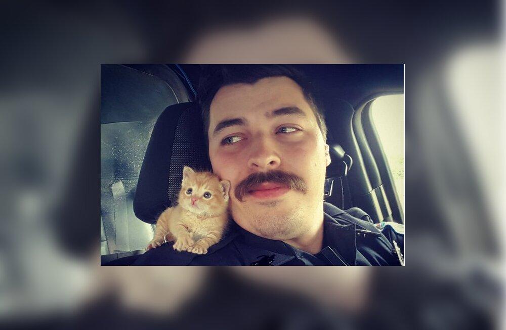 Heasüdamlik politseinik päästis abitu kassipoja ning sai sõbra, kellega koos kuritegusid lahendada