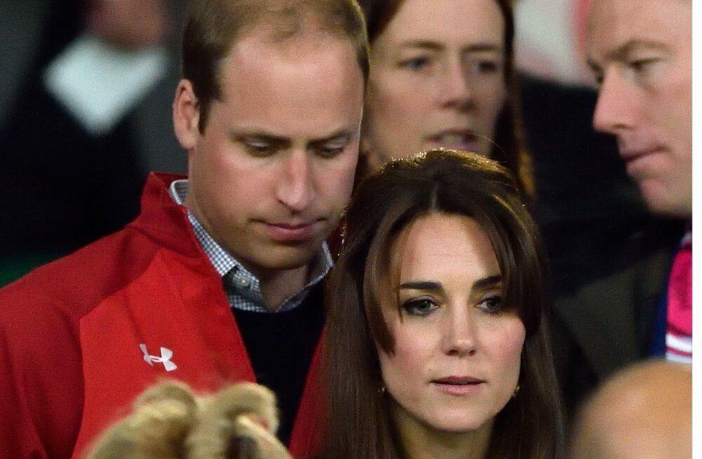 Kate ja William rägbimängul