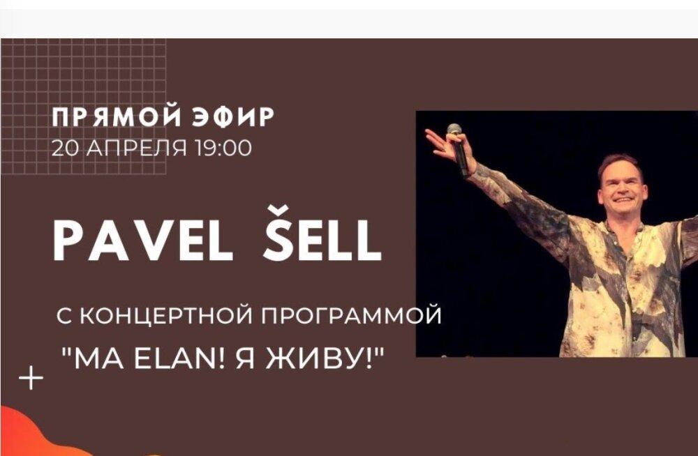 """Проект """"Изолента"""": трансляция концерта Павла Шелла """"Ma Elan! Я Живу!"""""""