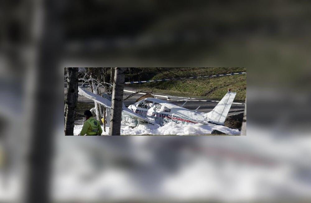 Soomes kukkus alla väikelennuk, üks mees hukkus